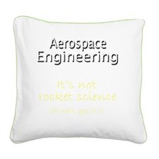 Aerospace generic 2 Square Canvas Pillow