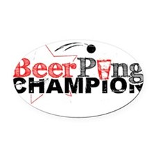 BEER-PONGV2.gif Oval Car Magnet
