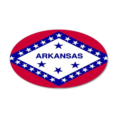 Arkansas 35x21 Oval Wall Decal