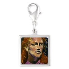 Bunkall, red hair Silver Square Charm