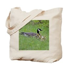 Goslings With Mom Tote Bag