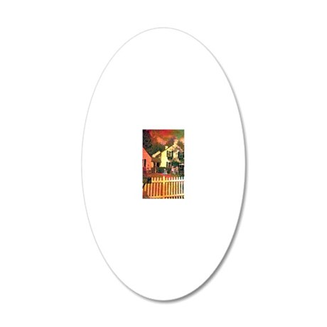 THE ART CLASS 20x12 Oval Wall Decal