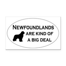 Newfs are kind of a big deal Rectangle Car Magnet