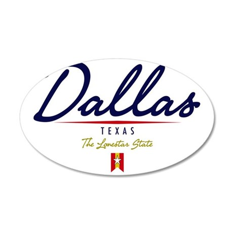 Dallas Script W 35x21 Oval Wall Decal