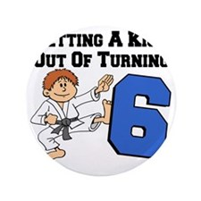 "Martial Arts 6th Birthday 3.5"" Button"