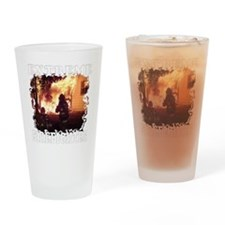 Extreme Firefighter Drinking Glass