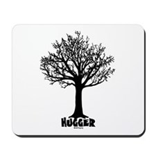 TREE hugger (black) Mousepad
