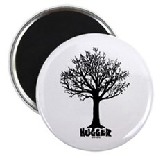 TREE hugger (black) Magnet