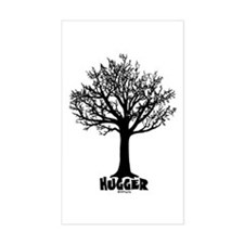 TREE hugger (black) Rectangle Decal