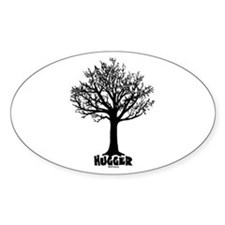 TREE hugger (black) Oval Decal