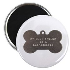 "Friend Labradoodle 2.25"" Magnet (100 pack)"