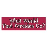 What Would Paul Atreides Do? Bumper Car Sticker