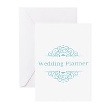 Wedding Planner in blue Greeting Cards