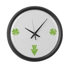 luckycharmDrk Large Wall Clock