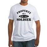 Property of a 891st Soldier Fitted T-Shirt
