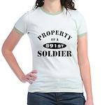 Property of a 891st Soldier Jr. Ringer T-Shirt
