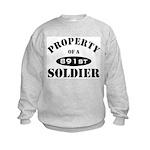 Property of a 891st Soldier Kids Sweatshirt