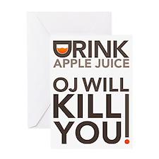 drink-apple-juice Greeting Card