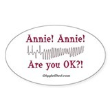 Annie! Annie! 2 Oval Decal