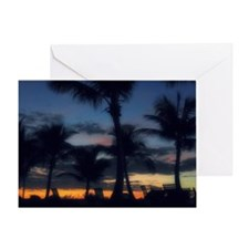 CC - POOL SUNSET Greeting Card