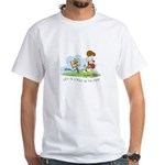 Odie walk in the Park White T-Shirt