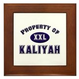 Property of kaliyah Framed Tile