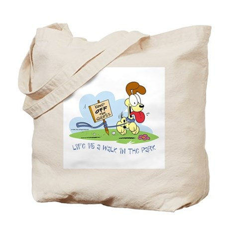 Odie walk in the Park Tote Bag