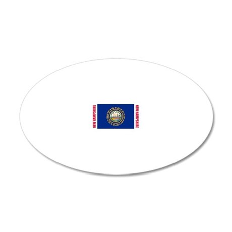 LP-new-hampshire-flag 20x12 Oval Wall Decal