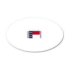 LP-north-carolina-flag 20x12 Oval Wall Decal
