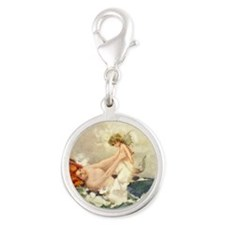 Mermaidmomtile Silver Round Charm