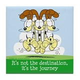 Odie Journey Tile Coaster