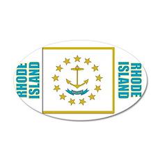Rhode Island Flag 35x21 Oval Wall Decal