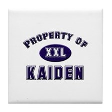 Property of kaiden Tile Coaster