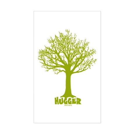 TREE hugger (lime) Rectangle Sticker