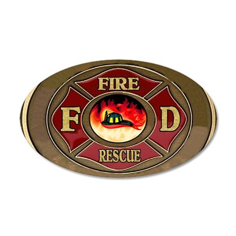 fire_1_large 35x21 Oval Wall Decal