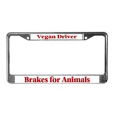 Brakes For Animals (Red) License Plate Frame