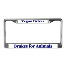Brakes For Animals (Blue) License Plate Frame