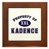 Property of kadence Framed Tile