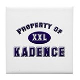 Property of kadence Tile Coaster