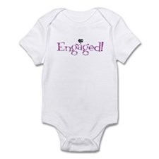 Retro Purple Engaged! Infant Bodysuit