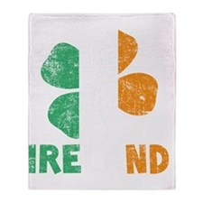Ireland2 - dk Throw Blanket