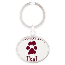 Rescue Dog Dad Oval Keychain