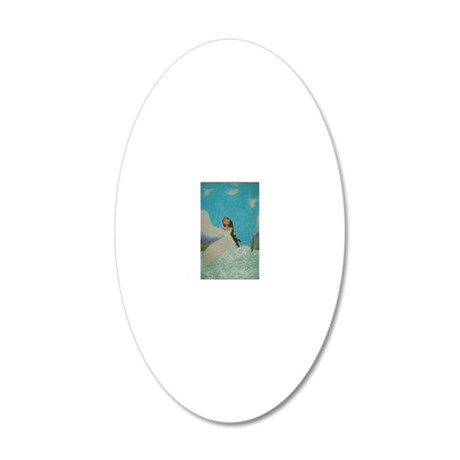 Aioga (Doll Version) 20x12 Oval Wall Decal
