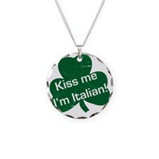Kiss-me-I-am-italiam-simple- Necklace