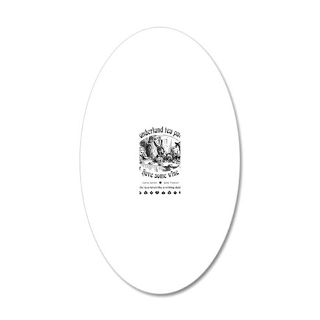 AliceInWonderland1 20x12 Oval Wall Decal