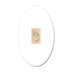Clumber_Spaniel_KlineSq 20x12 Oval Wall Decal