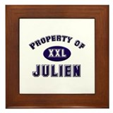 Property of julien Framed Tile
