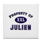 Property of julien Tile Coaster