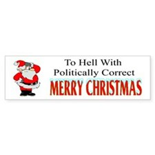 Merry Christmas Bumper Bumper Sticker