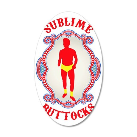 SubllimeButtocks.eps 35x21 Oval Wall Decal